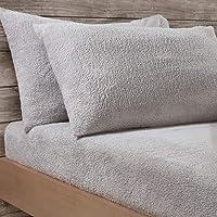 Sleepdown Teddy Fleece Housewife Pillowcase Pair Pack Plain Thermal Warm Cosy Super Soft Pillow Cover Bed Linen - 50cm x…