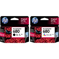 HP 680 Ink Cartridges Combo Pack (1 Black+ 1 tri-Color Cartridge)