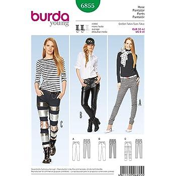 Burda B6681/Schnittmuster Hose Papier wei/ß 19/x 13/x 1/cm
