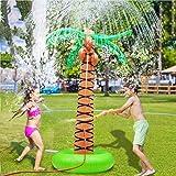 لعبة للاطفال قابلة للنفخ برشاش ماء على شكل شجرة نخيل بمقاس 61 انش، لعبة رشاش الماء قابلة للنفخ بحوض سباحة، شجرة جوز هند تصلح
