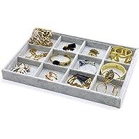 PuTwo Gioielli Organizzatore 12 Sezioni Lint cassetto Organizzatore display contenitore porta orecchini ideale e…