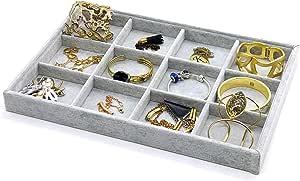 PuTwo Gioielli Organizzatore 12 Sezioni Lint cassetto Organizzatore display contenitore porta orecchini ideale e cassetti organizer