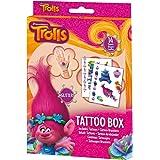 Craze 55886–Tattoo Caja Dreamworks Trolls, 14hojas, colores surtidos