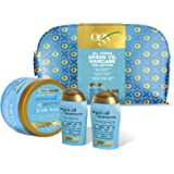OGX Gift Set, Argan Oil of Morroco Hair Care Gift Set with Shampoo, Conditioner, Mask and Beauty Bag
