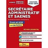 Concours Secrétaire administratif et SAENES: Catégorie B - Cours et QCM en fiches - Concours 2020 - 2021 (2020)