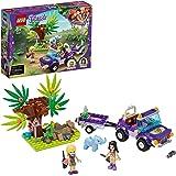 LEGO 41421 Friends Reddingsbasis Babyolifant in Jungle Speelset met Stephanie Poppetje, Speelgoed voor Kinderen vanaf 6 Jaar