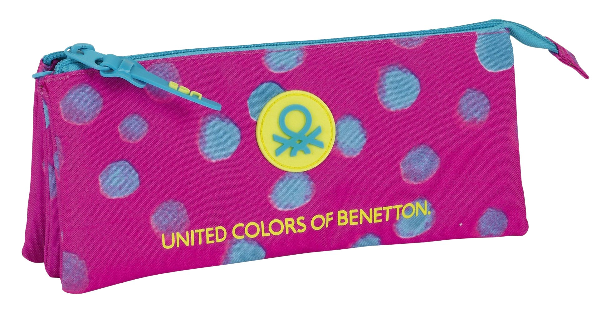 Benetton- Estuche portatodo Triple, Uacutenica (SAFTA 811750744)