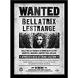 HARRY POTTER 30 x 40 cm Bellatrix Wanted impresión enmarcada