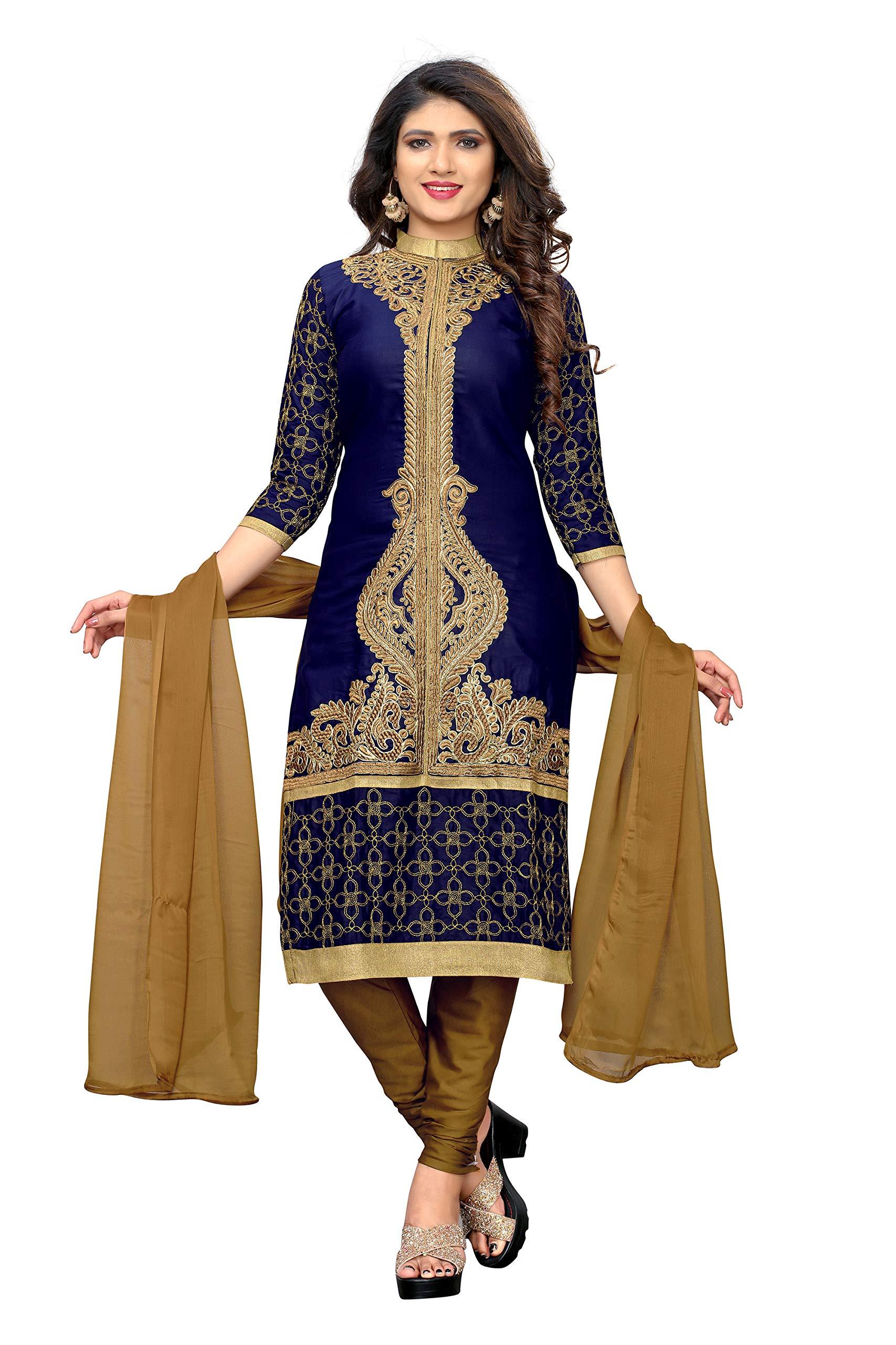 dc39ea7f2 ... Women s Semi Stitch Salwar Suit Material (salwar suit 106 blue). -70%.  🔍. Ethnic