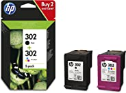 HP 302 Multipack Original Druckerpatronen (für HP Deskjet 1110, 2130, 3630, HP OfficeJet 3830, 4650, 5230, HP ENVY 4520) Schw