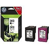 HP 302 Multipack Original Druckerpatronen (für HP Deskjet 1110, 2130, 3630, HP OfficeJet 3830, 4650, 5230, HP ENVY 4520) schwarz