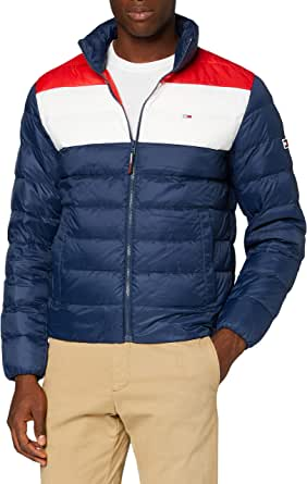 Tommy Jeans TJM COLORBLOCK LIGHT DOWN JACKET Giacca, Twilight Navy/Multi, XS Uomo
