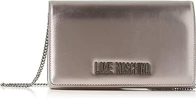 Love Moschino Borsa Metallic Pu, Tracolla Donna, 14x6x22 cm (W x H x L)