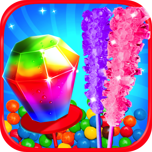 Ring Pops & Rock Candy Maker - Kids Rainbow Cooking Games FREE