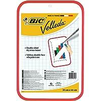 BIC Velleda Tableau Double Face Effaçable à Sec (30x44 cm) - Rouge, Pack de 1
