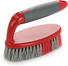 Cello Kleeno Tile Scrubber Brush, Red and Grey