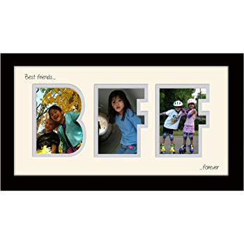 BFF Best Friends Forever Portrait Photo Frame Black Finish 20 x 8 ...
