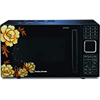 Morphy Richards 27 Ltr 27CGF Floral Design Microwave Convection Oven with 27 Autocook Menus, Black, Regular