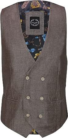 Xposed Mens Linen Blazer Cotton Blend Retro Vintage Smart Casual Jacket or Waistcoat