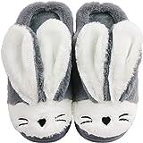 Santiago Pantofole Cosy Cute Bunny Animal Rabbit per donne Ragazze Memory Foam Sole Indoor Outdoor Compleanno