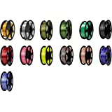 FLASHFORGE PLA Premium SILK filaments (13 in 1) each (5 m) with plastic box by WOL 3D
