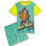 Scooby Doo Pijama Niño, Pijamas Niños Cortos Conjunto 2 Piezas, con Estampado Shaggy, Ropa Niño de Dormir, Regalos para Niños