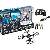 Revell Control 23860 RC Quadcopter Air Hunter, 2.4GHz, Akku, Flip-Funktion, Rotorschutz, LED, Headless-Mode, Geschwindigkeitsstufen, ferngesteuerter Quadrokopter, Camouflage-Design, 15,5 cm