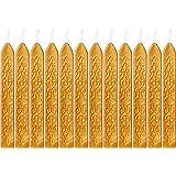 12 Pièces Bâtons de Cire à Cacheter avec Mèches Antique Cire d'Étanchéité pour Manuscrit de Feu pour Timbre de Cachet de Cire