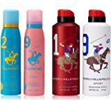 Beverly Hills Polo Club No. 2 + 9 Deodorant For Women, 150ml (Pack Of 2) and Beverly Hills Polo Club 1 + 9 Deodorant For Men,