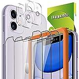 [3+2 pezzi] UniqueMe Vetro Temperato compatibile con iPhone 11 Pellicola Protettiva (6,1 pollici) +Pellicola Fotocamera compa