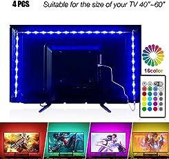 LED TV Hintergrundbeleuchtung 2m Kit Für 40-60 Zoll TV,Pangton Villa RGB 5050 led Strip mit Fernbedienung Usb TV Beleuchtung