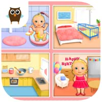Sweet Baby Girl Dream House - Bath, Dress Up, Feed and Take Care of Little Baby Girl Alice, Bake a Cake and Play Birthday Party (No Ads)