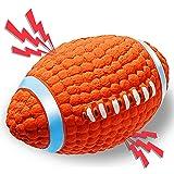 ACE2ACE Giocattolo Palla Cane, Giochi Rugby con Squeak per Cani in Gomma Naturale, Giocattolo interattivo da Lancio, Fornitur