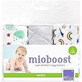 Bambino Mio, Mioboost (Boosters pour Couches Lavables), Lot de 3, Escargot Étonné