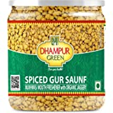 Dhampure Speciality Mouth Freshener Mukhwas, Spiced Gur Saunf, Jaggery Coated Fennel Seeds with Mixed Spices, No Added Sugar,