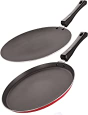 Nirlon Non-Stick Aluminium Cookware Set, 2-Pieces, Red/Black (2.6mm_FT13_CT12_64_3)