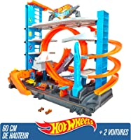 Hot Wheels City Méga Garage, Coffret de Jeu pour Petites Voitures avec Circuit et Pistes, Jouet pour Enfant, FTB69