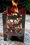 Feuersäule / Feuerkorb ELCH Gr. XXL aus Stahl - von SvenskaV