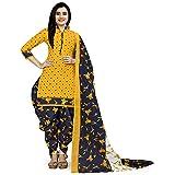 Rajnandini Women's Cotton Unstitched Salwar Suit (JOPLVSM4002J_Yellow_Free Size)
