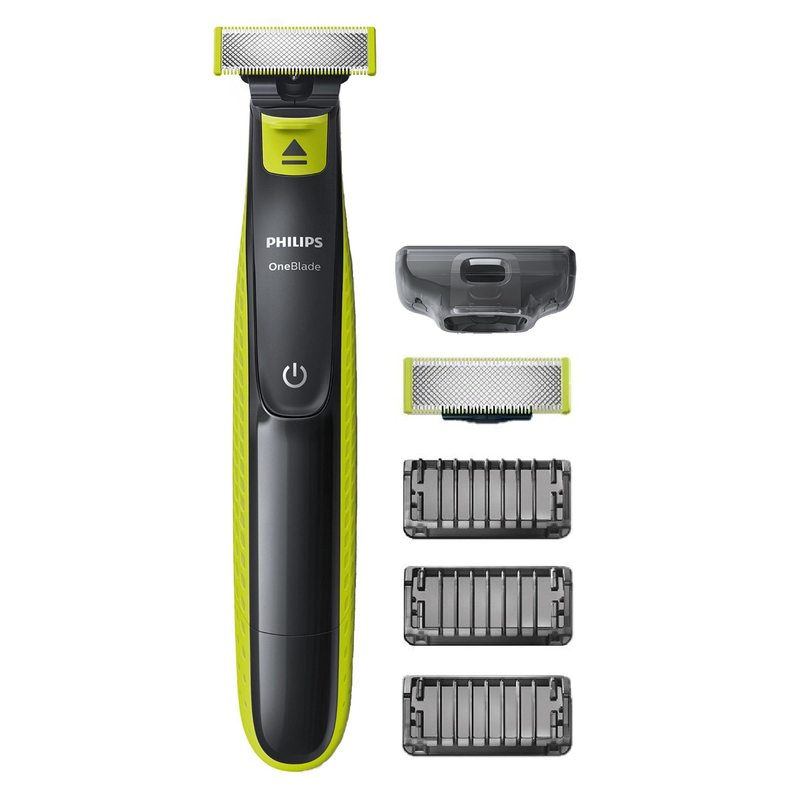 Philips QP2520/30 OneBlade – Recortador de barba, recorta, perfila y afeita, recargable