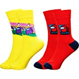 Besoar Calcetines Calcetín Socks Among para Hombre Mujer Chicas Niños Us 2 Pares