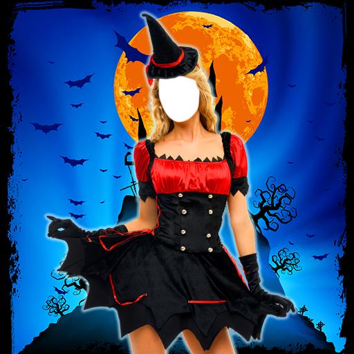 Halloween-Foto-Editor (Hexe Beängstigend Masken)