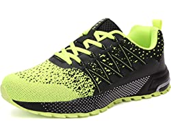 SOLLOMENSI Running Shoes Mens Womens Trainers Lightweight Outdoor Sports Shoes Athletic Gym Fitness Walking Run Jogging Walki
