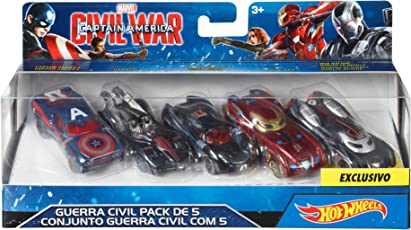 Hot Wheels Captain America: Civil War Toy Car Set (Pack of 5)