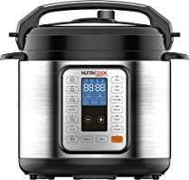 Nutricook Smart Pot by Nutribullet - 6 Liters 9 in1 Electric Pressure Cooker, 1000 Watts