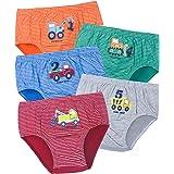 ORPAPA Calzoncillos para niños pequeños, pack de 5 unidades, de algodón, para niños de 2 a 5 años