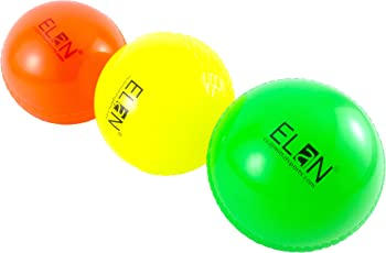 Elan Hollow Synthetic Cricket Ball, Pack of 3 (Multicolor)
