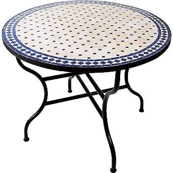 Amazon De Original Marokkanischer Mosaiktisch Gartentisch O 100cm