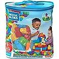 Mega DCH55 - First Builders Big Building Bag, 60 stora byggklossar i roliga färger och former, Passar Barn från 1 år och uppå
