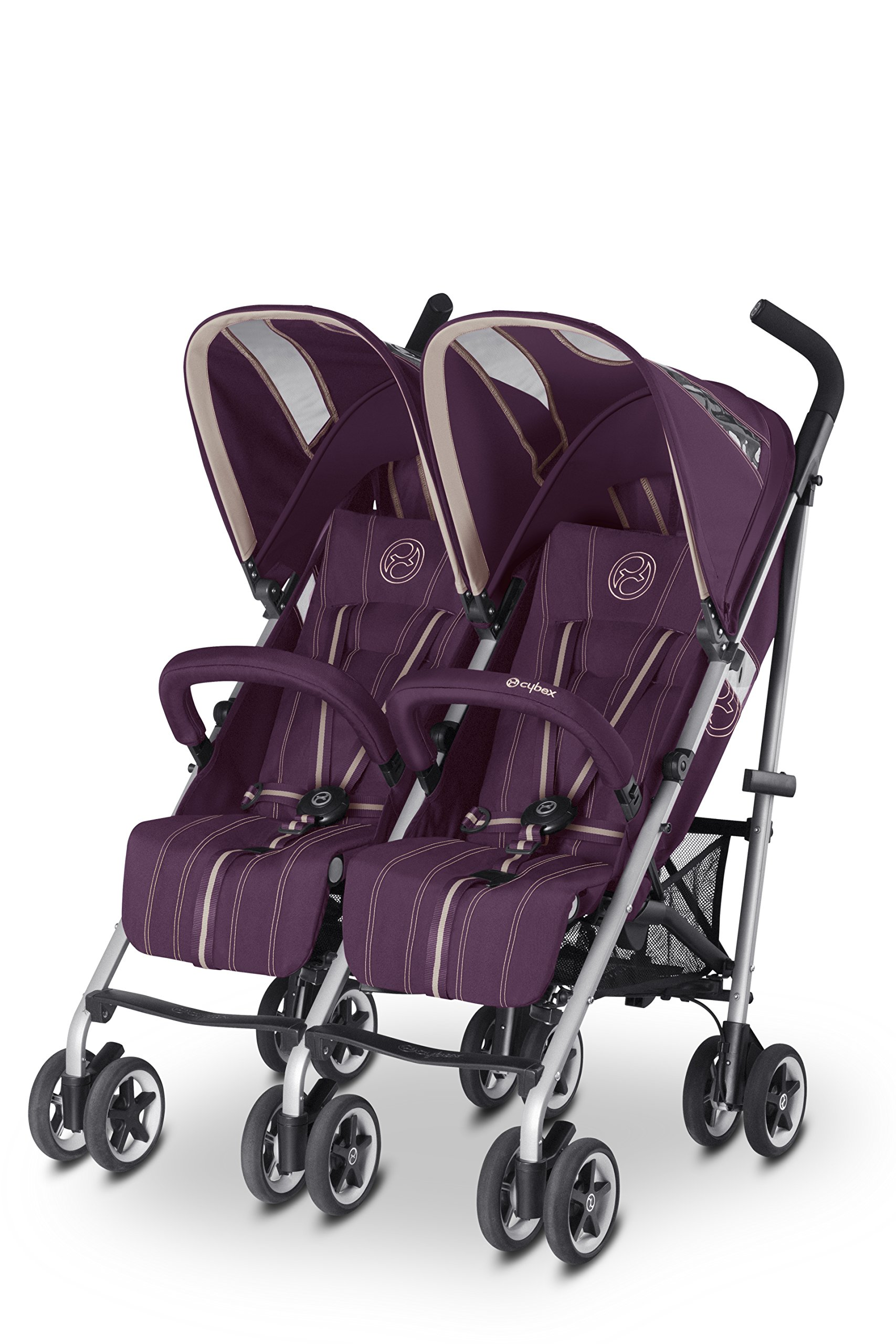 CYBEX Twinyx Princess Pushchairs (Pink)  From birth up to 30 kg Central one-pull harness system XXL sun canopy with UVP50+ 1
